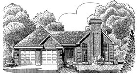 European House Plan 95633 Elevation