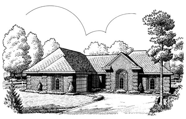 European House Plan 95634 Elevation