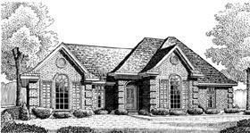European House Plan 95635 Elevation