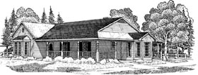 Country , Farmhouse House Plan 95636 with 3 Beds, 2 Baths Elevation