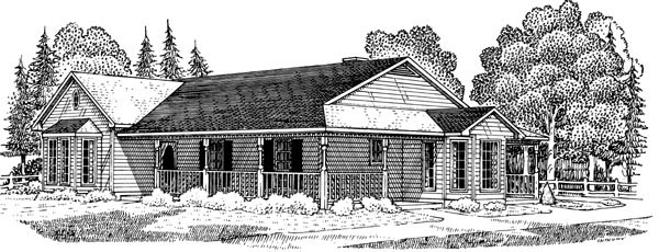 Country Farmhouse House Plan 95636 Elevation