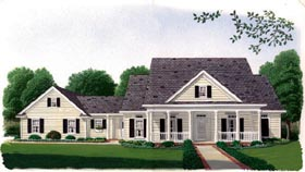 Country Southern House Plan 95637 Elevation