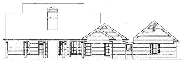 Country Southern House Plan 95637 Rear Elevation