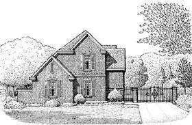 European House Plan 95639 Elevation