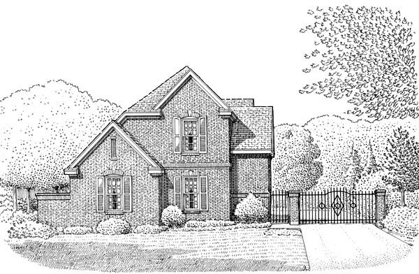 European House Plan 95639 Elevation