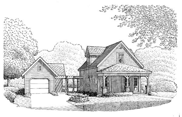 Country House Plan 95642 Elevation