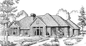 European House Plan 95643 Elevation