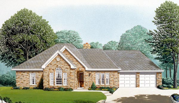 European House Plan 95644 Elevation