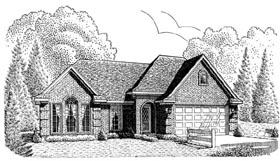 European House Plan 95645 Elevation