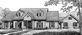 Country House Plan 95646 with 3 Beds, 3 Baths, 2 Car Garage Elevation
