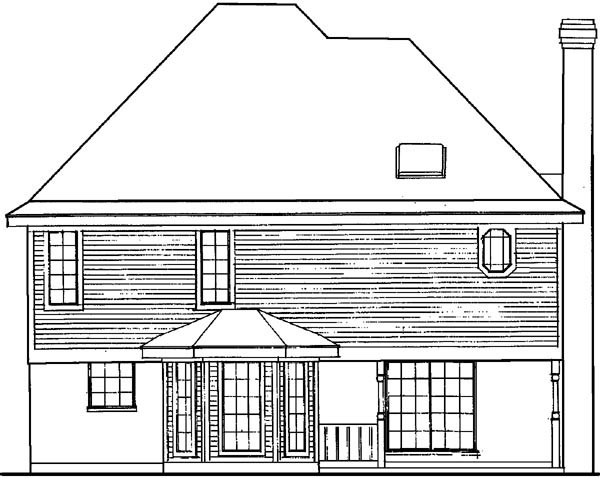 Country Farmhouse Victorian House Plan 95647 Rear Elevation
