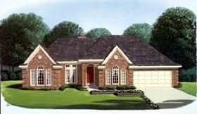 European House Plan 95649 Elevation