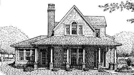 Country Craftsman Farmhouse House Plan 95650 Elevation