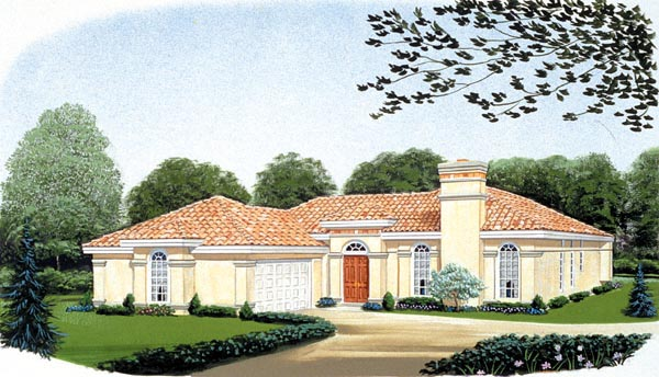 Florida Mediterranean House Plan 95652 Elevation
