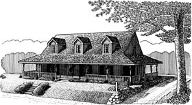 Country Farmhouse Victorian House Plan 95654 Elevation
