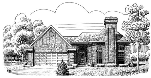 European House Plan 95655 Elevation
