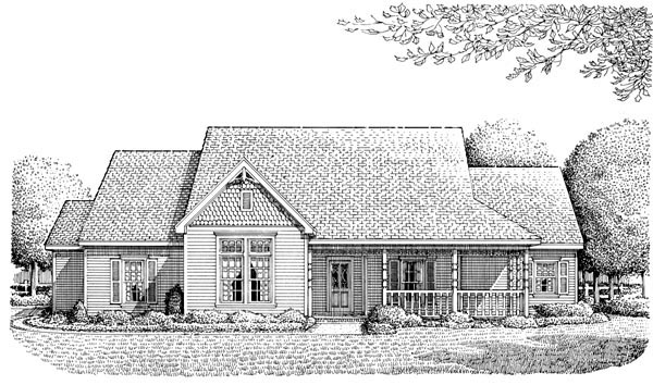 Country , Victorian , Elevation of Plan 95659