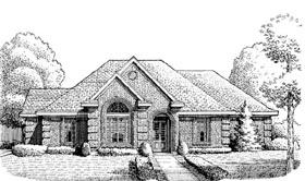 European House Plan 95660 Elevation
