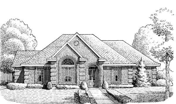 European House Plan 95660 Elevation