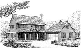 Country Farmhouse House Plan 95661 Elevation