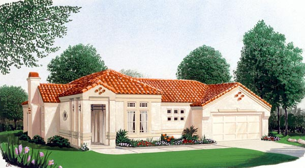 Southwest House Plan 95662 with 3 Beds, 3 Baths, 2 Car Garage Elevation