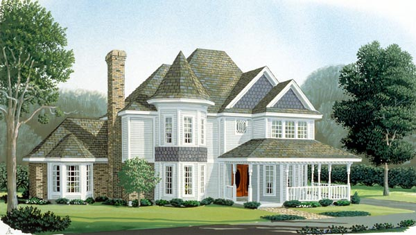 Country Farmhouse Victorian House Plan 95664 Elevation
