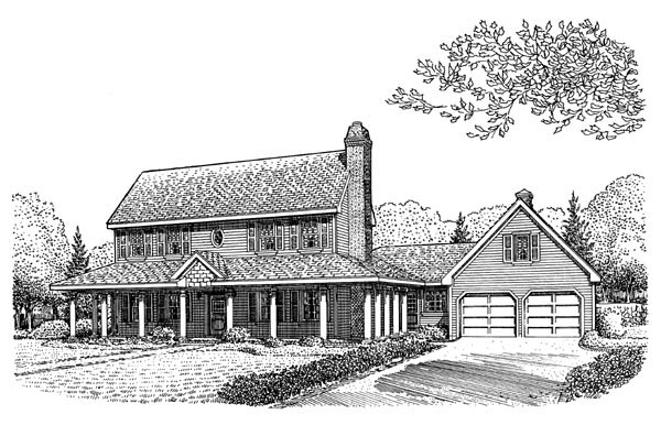 Country Farmhouse House Plan 95665 Elevation