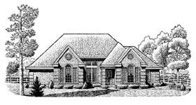 European House Plan 95667 Elevation