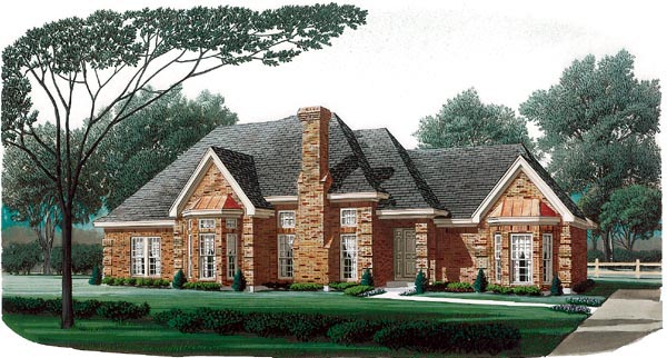 European House Plan 95669 Elevation