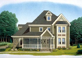 Victorian , Farmhouse , Country House Plan 95670 with 4 Beds, 3 Baths, 2 Car Garage Elevation