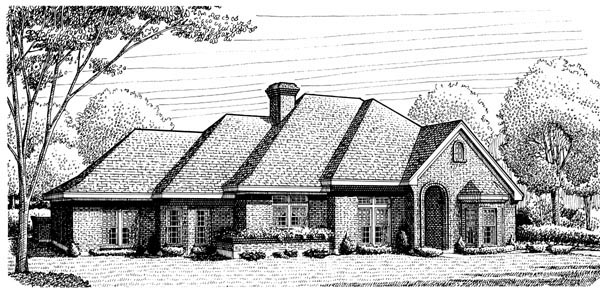 European House Plan 95671 Elevation