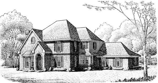 European House Plan 95673 Elevation