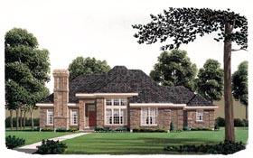 European House Plan 95674 Elevation