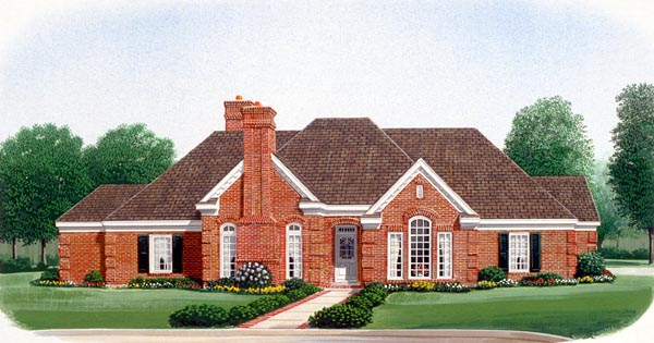 European House Plan 95675 Elevation
