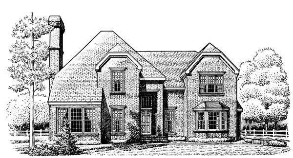 European House Plan 95676 Elevation