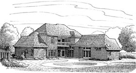 European House Plan 95677 Elevation