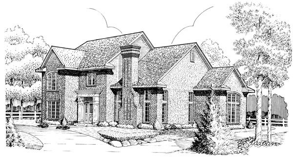 European House Plan 95678 Elevation