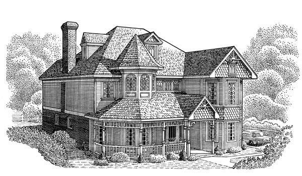 Country Farmhouse Victorian House Plan 95682 Elevation