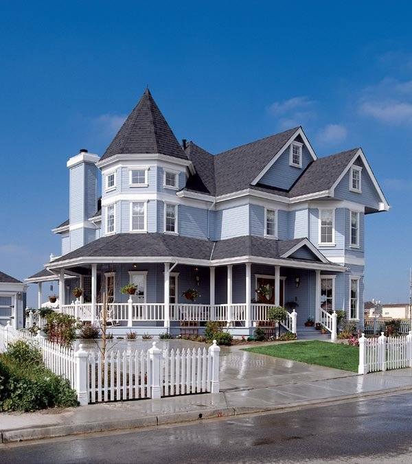 Country Farmhouse Victorian House Plan 95683 Elevation