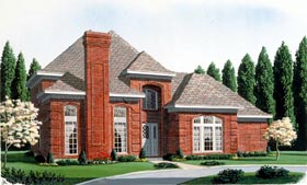 European House Plan 95684 Elevation