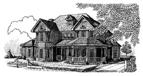 Country , Farmhouse , Victorian House Plan 95685 with 4 Beds, 4 Baths, 2 Car Garage Elevation