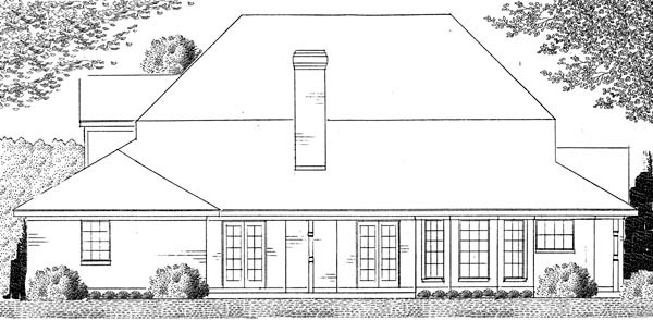 Country , Farmhouse , Victorian House Plan 95687 with 4 Beds, 3 Baths, 2 Car Garage Rear Elevation