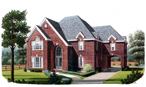 European House Plan 95689 Elevation