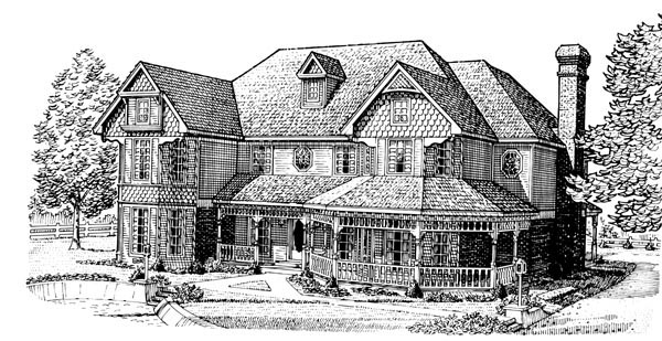 Country Farmhouse Victorian House Plan 95691 Elevation