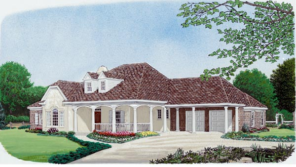 Colonial Country European House Plan 95693 Elevation