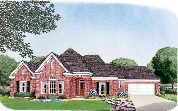 European House Plan 95695 Elevation