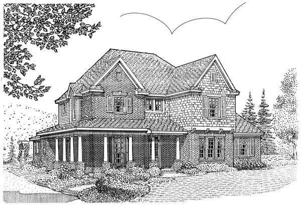 Country House Plan 95696 Elevation
