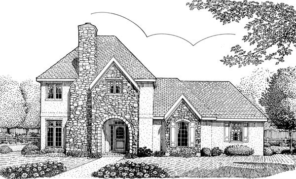 European House Plan 95697 Elevation