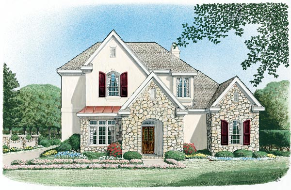 European House Plan 95698 Elevation