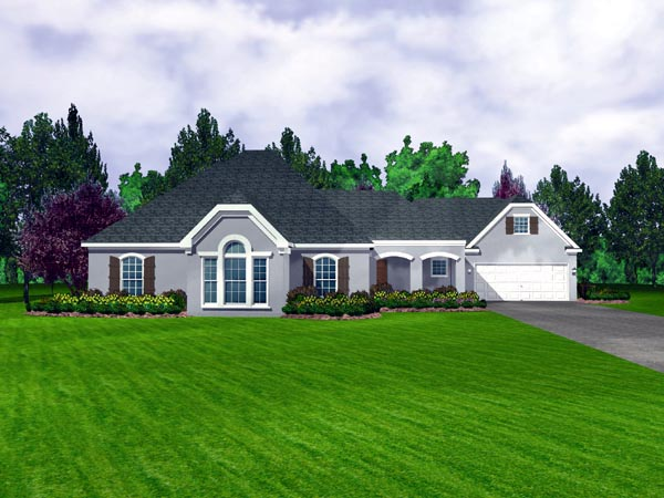 European House Plan 95700 Elevation